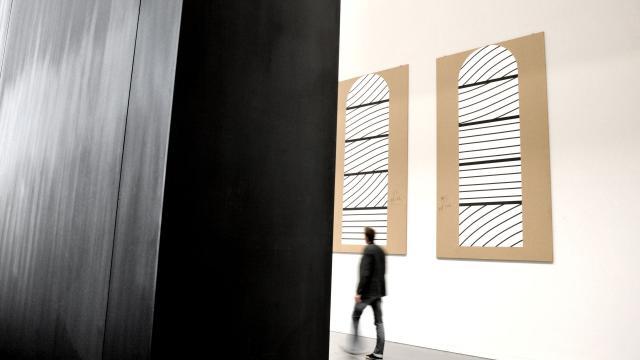 Cartons des vitraux de Conques au musée Soulages de Rodez