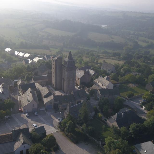 Vue sur le village de Sainte-Radegonde
